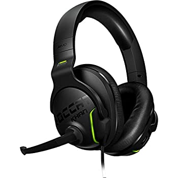 Roccat Khan AIMO 7.1 Surround Gaming Headset, Hi-Res Sound, USB, AIMO LED Illumination, Mutable Real-Voice Microphone - Black