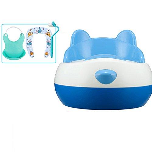 Toilettes pour enfants Siège de Toilette de Pot bébé Bambin Kid Toilettes Trainer pour garçon et Fille Amovible Conception de tiroir Amovible avec sécurité 36 * 34 * 28 cm