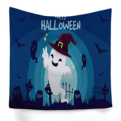 xkjymx Hängetuch Dekotuch Halloween Bilddruck Tapisserie 14 230X150cm