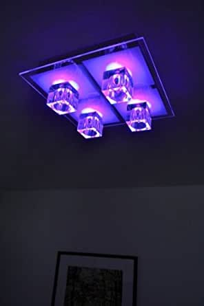 LED RGB ceiling light with colour changing mode: Amazon.co ...