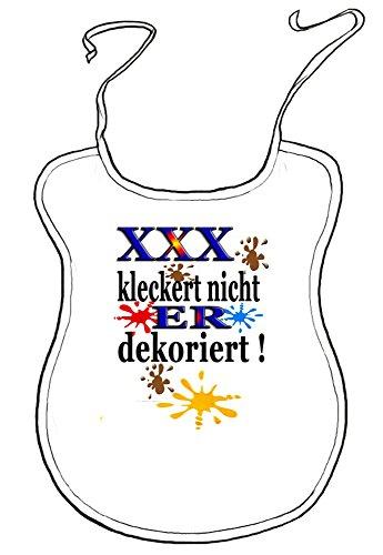 Kleckerlatz Scherz-Latz für Erwachsene Personalisierbar Ihr-Name kleckert nicht, er/sie dekoriert