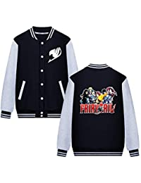 Unisex Fairy Tail Dessin Animé Letters ImprimÉS Veste de Baseball Automne  et Hiver Sports Décontractée Uniforme 8d397f7ca87e