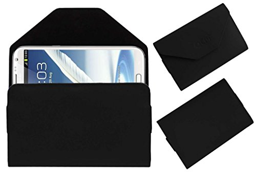 Acm Premium Pouch Case For Samsung Galaxy Note 2 N7100 Flip Flap Cover Holder Black  available at amazon for Rs.329