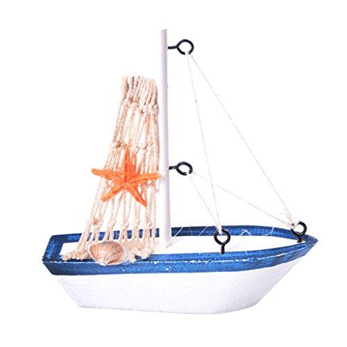 Gazechimp Vintage Mini Modelo de Réplica de Barco Artesanal de Vela Estilo Náutico Decoración Casera Regalo Coleccionable   # 1