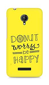 AMEZ donut dont worry be happy Back Cover For Micromax Canvas Spark Q380