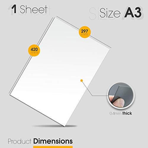 The Magnet Shop Magnetisches Whiteboard - Kühlschrank Whiteboard - Für Notizen, Termine, Mahlzeiten Planen in Haus, Büro und Küche - A3