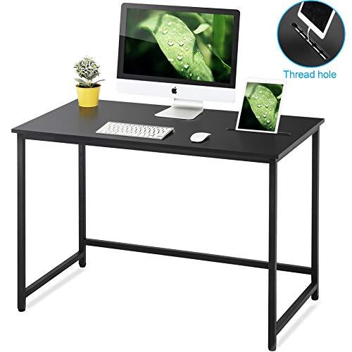 FITUEYES Schreibtisch Computertisch Arbeitstisch Zuhause und Büro schwarz CD111001WB