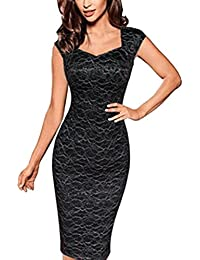 15be207d0af1 Bestfort Cocktailkleid Damen Abendkleider Kurz Partykleider Elegante  Schwarzes Kleid V-Ausschnitt Festliche Kleider Neckholder