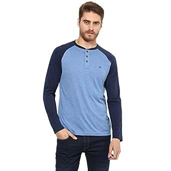 Red Tape Men's Solid Regular Fit T-Shirt (RPF0184-S_Midnight Blue)