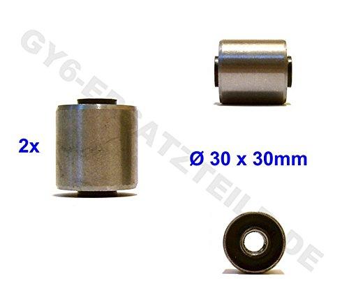 MOTOR SILENT LAGER / MOTORLAGER BUCHSEN / GUMMIBUCHSEN * Ø 30 x 30mm * 1 PAAR * 125-250cc z.B. für BAOTIAN QT BENZHOU YIYING YY50QT REX RS AGM JINAN QINGQI QM50QT YIYING LONGJIA KYMCO FOSTI ZNEN QT-E LEIKE JMSTAR MOTINO MKS HYOSUNG PEUGEOT KREIDLER RMC FLEX TECH TOPDRIVE YY50QT ERING ADLY RIEJU SUKIDA RETRO CRUISER CHINA ROLLER 152QMI / 157QMJ GY6 (Motor Lager)