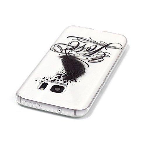 PowerQ Bunte Muster Serie Malerei Druck TPU Case Fall Hülle Etui < Transparent-Heart dandelion - für IPhone6SPlus IPhone 6SPlus 6Plus IPhone6Plus >           Zeichnung Tasche weiche Silikon Abdeckung Soft Silic Transparent-LOVE feather
