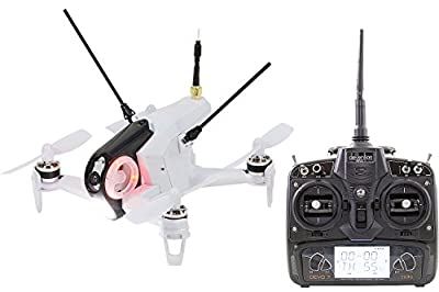 Walkera 15004400 Racing Rodeo 150 RTF Drone Quadcopter FPV with HD Camera, Battery, Charger & Devo 7 Transmitter – White by Walkera