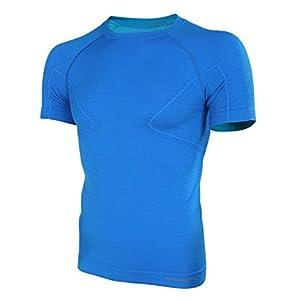 Brubeck Merino Herren Kurzarm Funktionsshirt | Atmungsaktiv | Thermo | Sport | Fitness | Unterhemd | Unterwäsche | 41% Merino-Wolle | SS11710