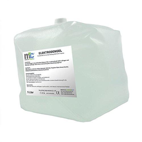 Medicalcorner24 - Gel conductor para electrodos (5 l, para ECG, EEG y EMG, sin botellas vacías)