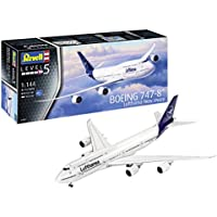 Revell-03891 Boeing 747-8 Lufthansa New Livery, Kit Modelo, Escala 1:144, Color Blanco, 52.5 cm (03891)