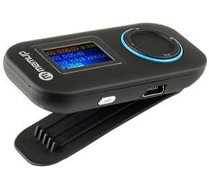 MEMUP Lecteur MP3 Funklip - 4 Go - noir + Chargeur USB - blanc + Ecouteurs stéréo son digital (CS01) .