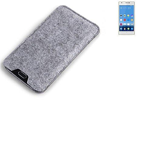 K-S-Trade Filz Schutz Hülle für Gionee Elife S5.5 Schutzhülle Filztasche Filz Tasche Case Sleeve Handyhülle Filzhülle grau