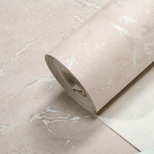 Wallpaper Einfacher nordischer Artebene gesprenkelte Beschaffenheits-Mattbeschaffenheits-Vliesfarbentapete Hotelcafé-Technikbekleidungsspeicher-Hintergrund-Tapeten (Color : Rosa)