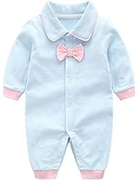 4823b2133f6d3 Bébé Combinaison Filles Garçons Coton Barboteuse à Manches Longues Pyjama  Gentilhomme ...