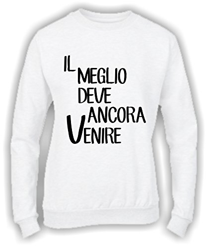 Social Crazy - Sweat-shirt - Femme Bianco
