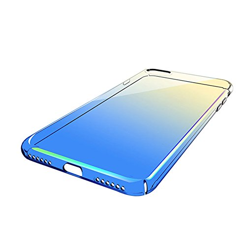 Custodia iPhone 6, iPhone 6S Cover Trasparente, SainCat Custodia in Hard Plastic Protettiva Cover per iPhone 6/6S, 360 Gradi Full Body 3D Design Custodia in Ultra Slim Transparent Case Ultra Sottile C Blu