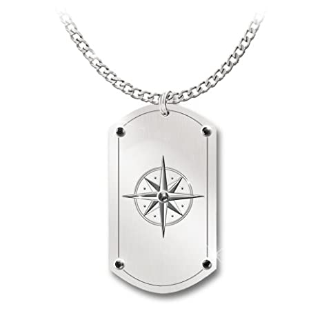The Bradford Exchange - Dog Tag Pendant Necklace with 'Dear Grandson, Forge Your Own Path, Anything is Possible'