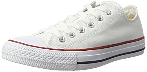 CONVERSE Chuck Taylor All Star Seasonal Ox, Unisex-Erwachsene Sneakers, Weiß (Optical White), 43 EU