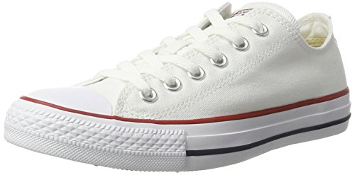 CONVERSE Chuck Taylor All Star Seasonal Ox, Unisex-Erwachsene Sneakers, Weiß (optical white), 39.5 EU (Weiße Sneakers Converse)