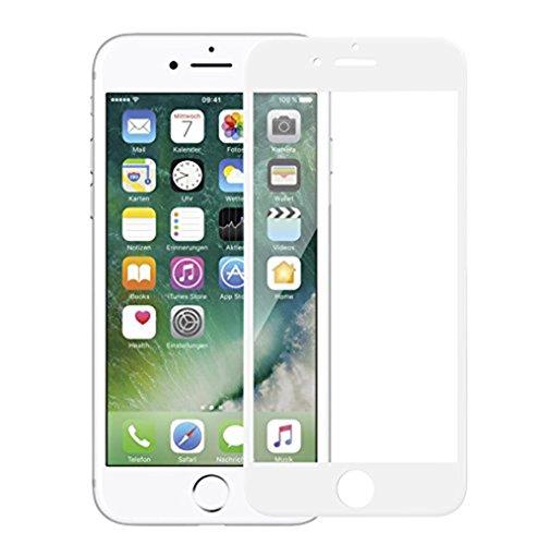 iPhone 7Plus Panzerglas 3D Gebogen Full Deckung, Anti-Kratzen, Anti-Öl, Anti-Bläschen HD Gehärtetem Glas Displayschutzfolie Weiß
