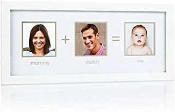 Pearhead Mommy Plus Daddy Me Frame, White