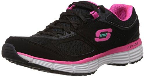 Skechers Agilidade Ajuste Perfeito Damen Sneakers Schwarz (bkhp)