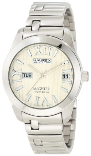 Haurex Italy Ladies Watch XA356DW1 Magister L with Silver Dial and Silver Stainless Steel Strap