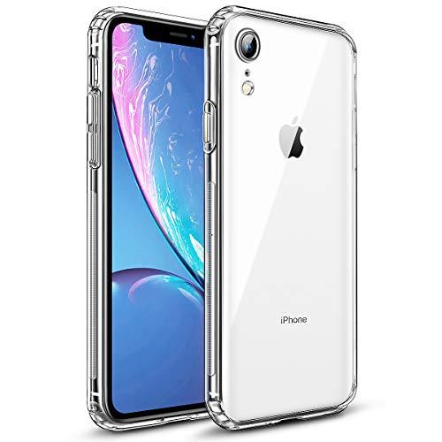 wsky Crystal Clear Kompatibel mit iPhone XR Hülle, Anti-Gelb Dünn Transparent Handyhülle, Kratzfest Durchsichtige Case Cover, Hohe Zähigkeit Soft TPU Silikonhülle, iPhone XR Weich Schutzhülle - Klar