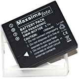 Maxim - compatible 1000mAh DMW-BCF10E, CGA-S/106C, Replacement Camera Battery for Panasonic Lumix DMC FP8, FS4, FS6, FS7, FS10, FS11, FS12, FS15, FS25, FS30, FS33, FS42, FS62, FS480, FS550, FS580, FT1, FT2, FX40, FX48, FX60, FX65, FX550 PS1, TS1, DMWBCF10E, BCF10E, All versions, fully compatible. By Maxim Foto Supplies.