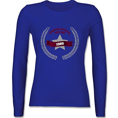Geburtstag - 1989 Limited Special Edition - tailliertes Longsleeve / langärmeliges T-Shirt für Damen Royalblau