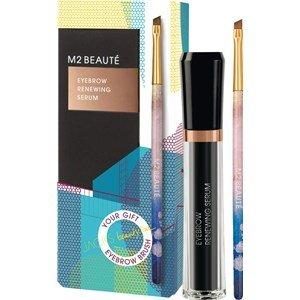 M2 Beauté Eyebrow Renewing Serum Summer Edition 5 ml + Gratis Jacks Augenbrauenpinsel Limitiertes Vorteilsset für gepflegte Augenbrauen