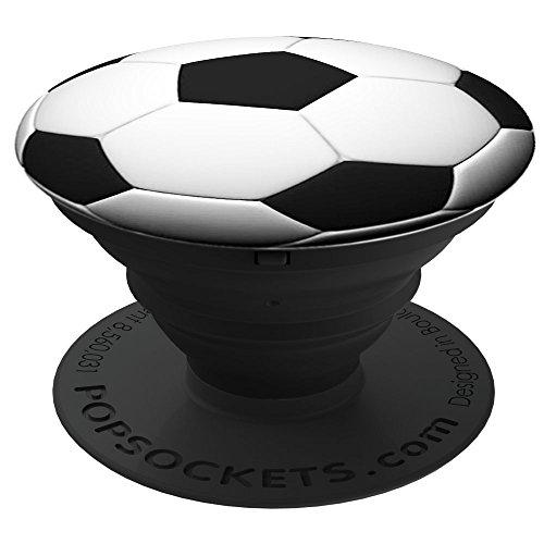 *PopSockets: Ausziehbarer Sockel und Griff für Smartphones und Tablets – Soccer Ball*