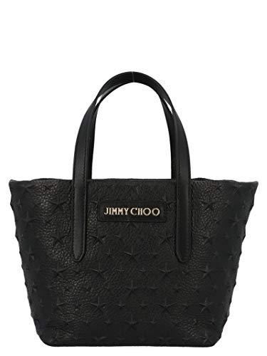 Jimmy Choo Damen Minisaraemgblack Schwarz Leder Tote