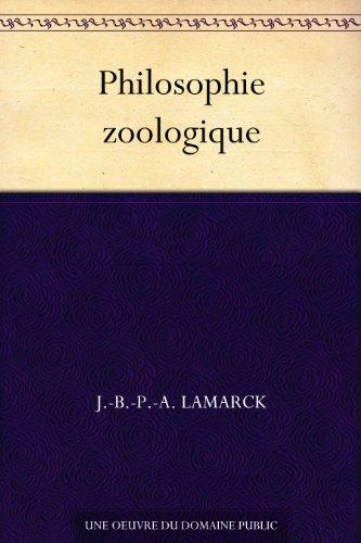 Couverture du livre Philosophie zoologique