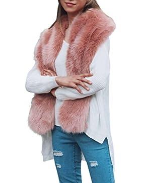 Fur chal,Morwind Cuello de pelo bufandas largas mujeres envuelve bufanda caliente de invierno bufanda de mujer