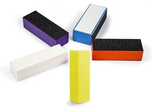 EuBeCos Die Nr.1 Schleifblock Polierblock Buffer 5-er Set (EU Produkt in PREMIUM Qualität) weiß farbig! TOP PROFI PRODUKT!