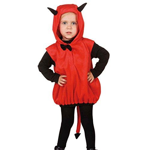 Teufelchen Kostüm Weste mit Kapuze Kind Kapuzenweste Satan (Teufel Kostüm Kleinkind)