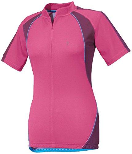 CRIVIT® Damen Fahrradshirt, Kurzarm, TOPCOOL Funktionsfaser (Gr. S 36/38, pink/lila)