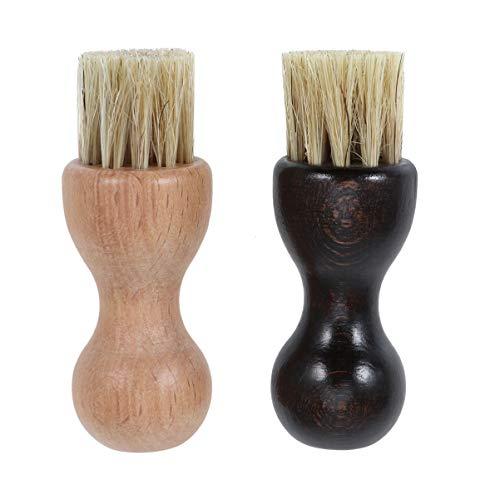 Artibetter 2 pezzi spazzole per scarpe spazzole per maniglie in legno spazzole per la pulizia spazzole multifunzione per la...