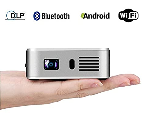 DLP Vidéoprojecteur Portable Mini Android Smart Wireless Wifi Home Theater
