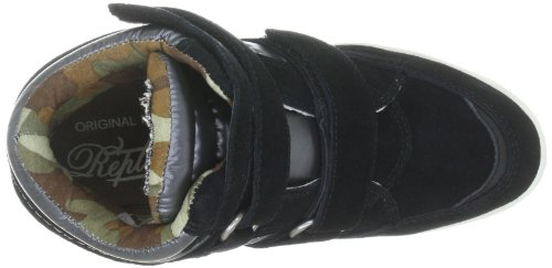 REPLAY Amelie GWP53.C0001L Damen Fashion Sneakers Schwarz (black grey 370)