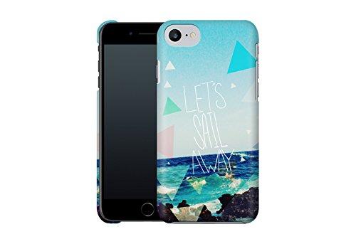 Handyhülle mit Sprüche-Design: iPhone 7 Hülle / aus recyceltem PET / robuste Schutzhülle / Stylisches & umweltfreundliches iPhone 7 Case - Apple iPhone 7 Schutzhülle: Dreamer von Bianca Green Let's Sail Away von Leah Flores