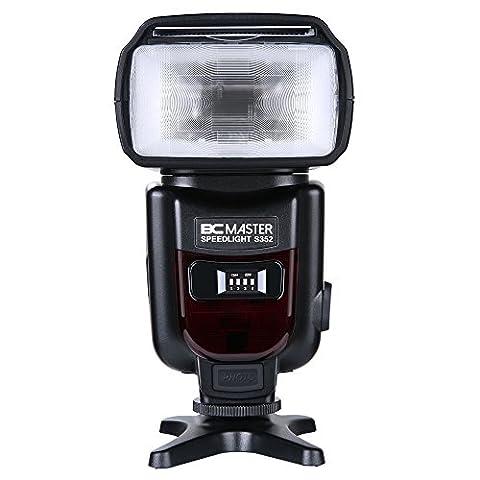 BC Master Flash Speedlite pour Canon Nikon Panasonic Olympus et autres caméras DSLR, appareil-photo digital avec Standard Hot Shoe,2.4G, BCM-S352