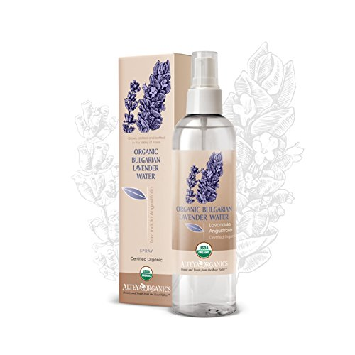 Alteya Organic agua floral de lavanda – en aerosol 250ml – antiséptico y antiinflamatorio - producto orgánico con certificado USDA, destilado al vapor de flores de lavandula angustifolia búlgara y vendido por el propio cultivador y destilador Alteya Organics