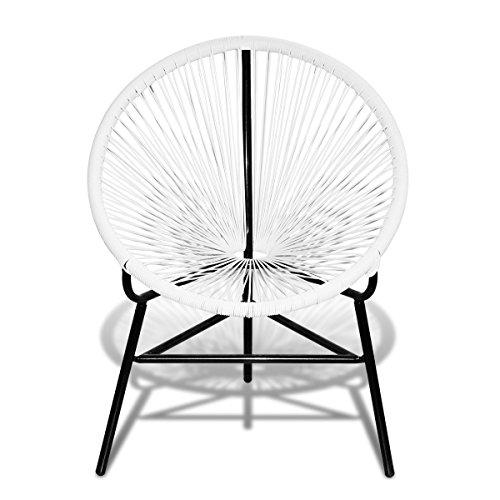 Vidaxl Rattan Stuhl Oval Weiß